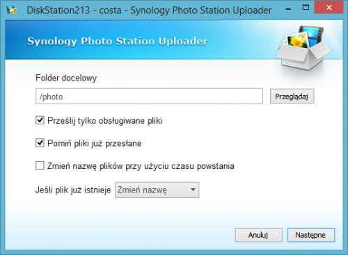 screen 11 - Synology Photo Station Uploader
