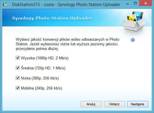 screen 12 - Synology Photo Station Uploader
