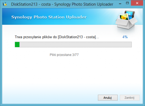 screen 13 - Synology Photo Station Uploader