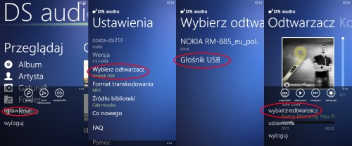 Audio Station na Windows Phone i wybór renderera
