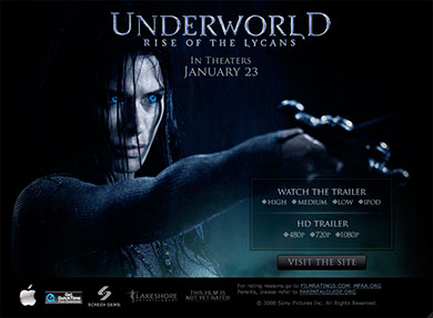 Underworld Rise Of The Lycans - trailer