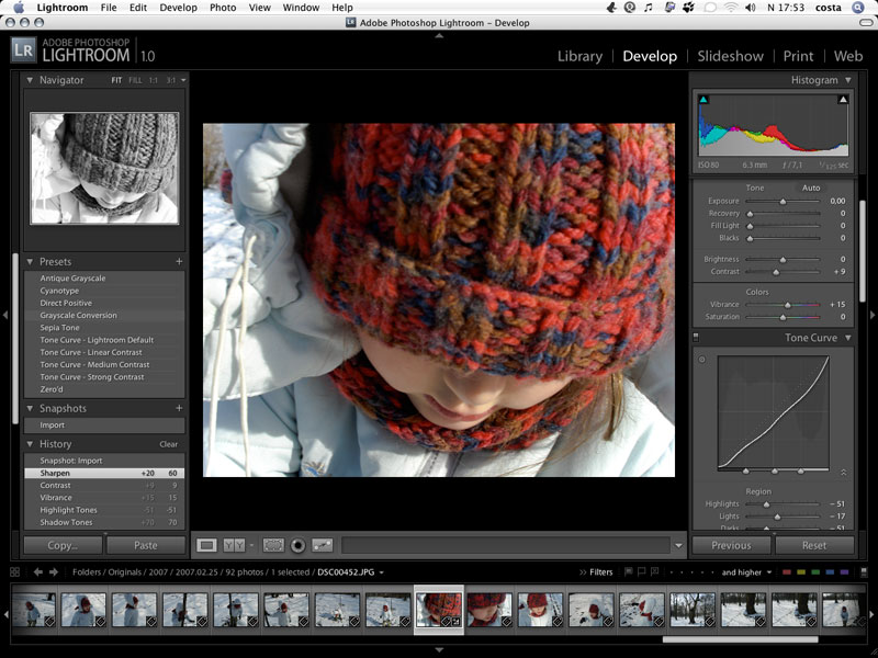 Adobe Photoshop Lightroom v1.0